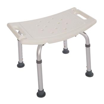 Aluminium Alloy Elderly Bath Chair without Back of a Chair White