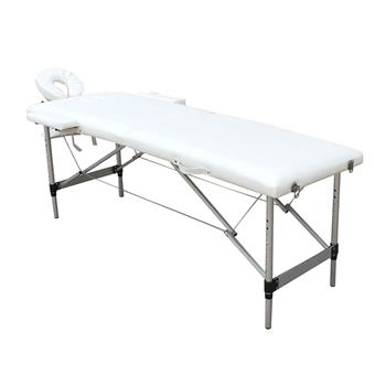 2 Sections Folding Portable SPA Bodybuilding Massage Table White