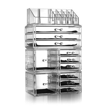 SF-1122-10 4Pcs / Set Plastic Cosmetics Storage Rack Transparent
