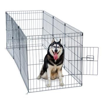 """24"""" Tall Wire Fence Pet Dog Cat Folding Exercise Yard 8 Panel Metal Play Pen"""