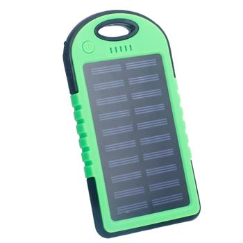 5000mAh Solar Power Bank Green