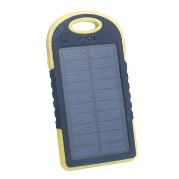 5000mAh Solar Power Bank Yellow