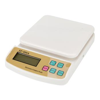 400A 10KG/1G Kitchen Mail LCD Digital Scale White
