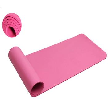 10mm Thick NBR Pure Color Anti-skid Yoga Mat 183x61x1cm Pink