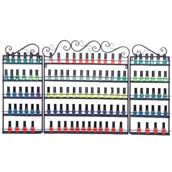 [US-W]5 Tier Metal Nail Polish Display Organizer Wall Rack Holder