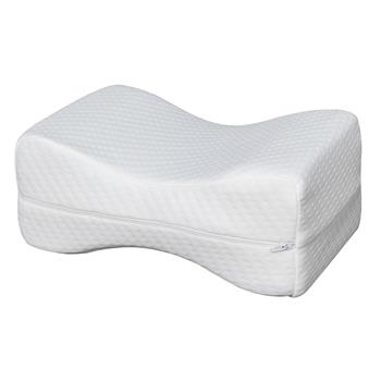 """11""""*7""""*4.5"""" Sleep Restoration Double-sided Grooved Memory Foam Leg Support Pillow"""