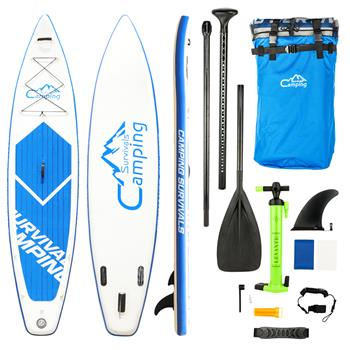 KS-SP1009 12' Adult Inflatable SUP Stand Up Paddle Board White & Blue