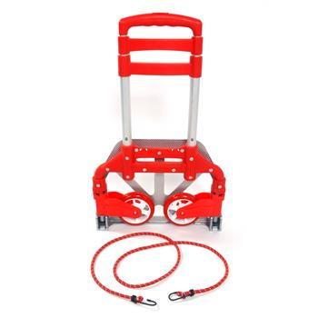 Portable Aluminium Cart Folding Dolly Push Truck Hand Collapsible Trolley Luggage Red