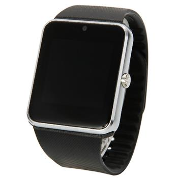 """GT08 1.54"""" Touch Screen SIM Card Bluetooth Smart Wrist Watch Phone Mate for Android & iOS Silver"""