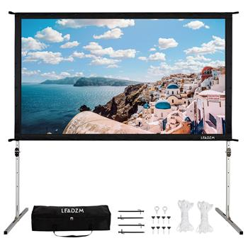 "Leadzm 100"" 16:9 Fast Folding Screen Outdoor Indoor Portable Projector Screen"