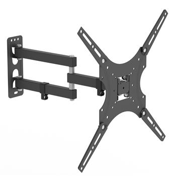 "LEADZM 26-55"" Adjustable Wall Mount Bracket Rotatable TV Stand TMX400 with Spirit Level"