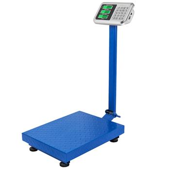 300KG/661lbs LCD Display Personal Floor Postal Platform Scale Blue