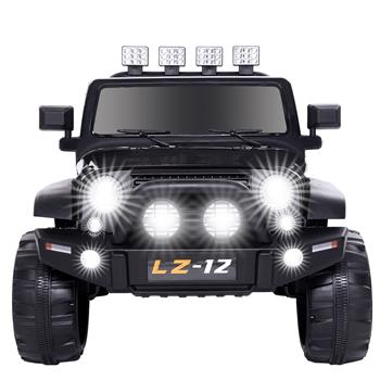 12V Kids Ride On Car Toy Jeep Rechargeable Battery 4 mph Remote Control Black US