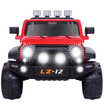 12V Kids Ride On Car Toy Jeep Rechargeable Battery 4 mph Remote Control Red US
