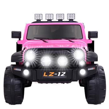 12V Kids Ride On Car Toy Jeep Rechargeable Battery 4 mph Remote Control Pink US