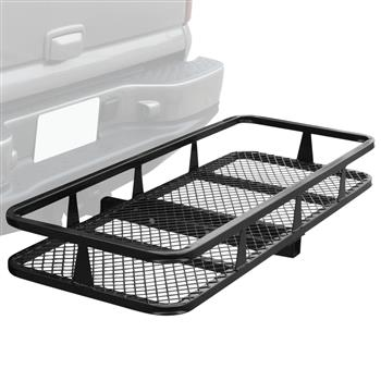 Hitch Mounted Folding Cargo Carrier Black
