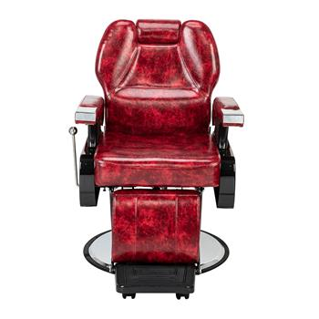 Classic Large Barber Chair, Wine Red