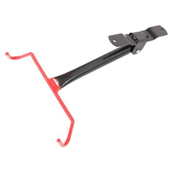 Wall-mounted Hook Style Portable Bicycle Display Rack Black & Red