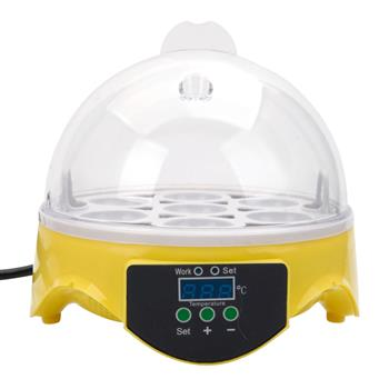 [US-W]7-Egg Mini Practical Poultry Electric Incubator (US Standard) Yellow