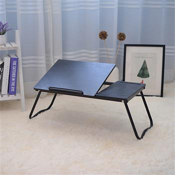 Folding Laptop Desk for Bed with Slot Adjustable Angle 79*36*27CM A1#2 Black Willow