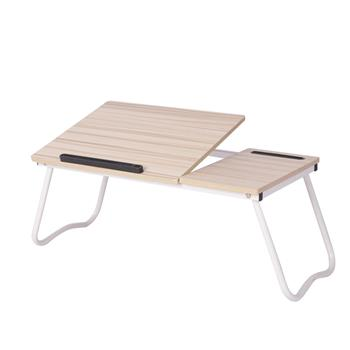 Folding Laptop Desk for Bed with Slot Adjustable Angle 79*36*27CM A1#2 White Maple