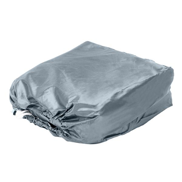 17-19ft 210D Oxford Fabric High Quality Waterproof Boat Cover with Storage Bag Gray