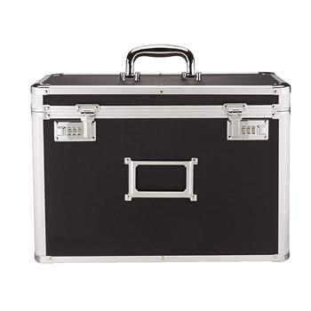 Locking Personal File Tote for Legal Size Documents Black