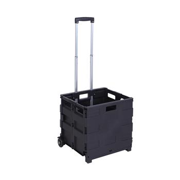 2 Wheels Rolling Utility Cart, Heavy Duty Light Weight 80LB Load Capacity Collapsible Handcart