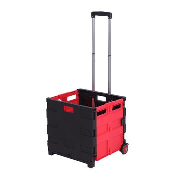 Two-Wheeled Collapsible Handcart Rolling Utility Cart with seat Heavy Duty Lightweight