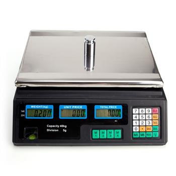 ACS-30 40kg/5g Digital Price Computing Scale for Vegetable US Plug Silver & Black