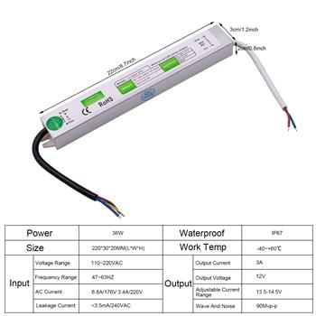 12v 36w FS-35-12 Waterproof Switching Power Supply