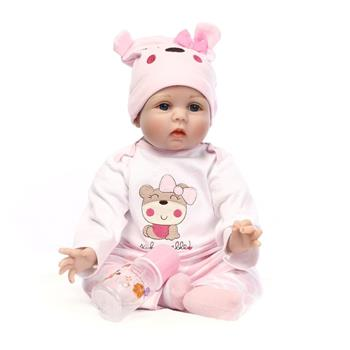 "22"" Cute Simulation Baby Infant Toy Pink"