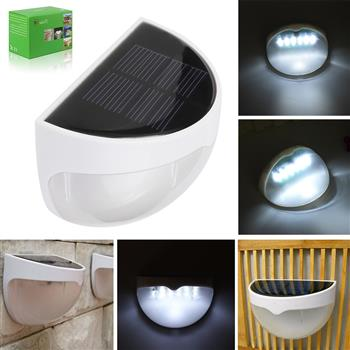 N760B 6-LED White Light Waterproof Wall Mounted Solar Lamp