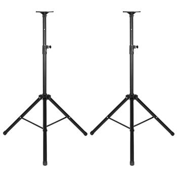 LEADZM LZ-SP2 Pair Height Adjustable 35MM COMPATIBLE Tripod DJ PA Speaker Stands with Bag