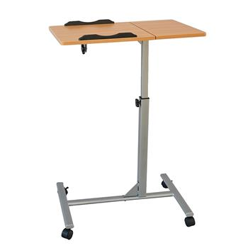 Four-Wheel Home Use Multifunctional Lifting Removable Computer Desk Black & Wood Color