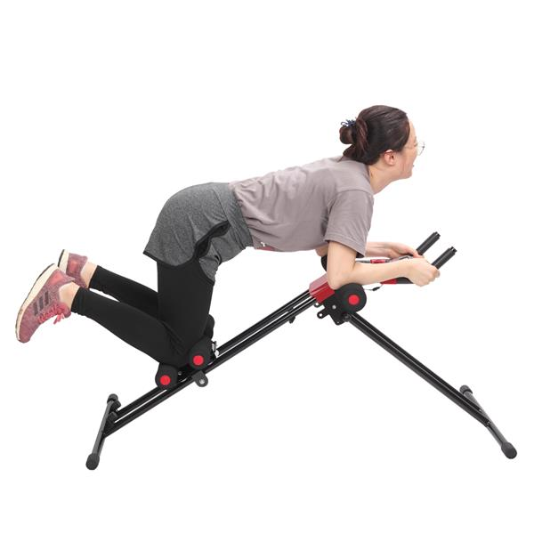 Straight Linear Type Powerful Private Fitness Club Abdomen Exerciser Black