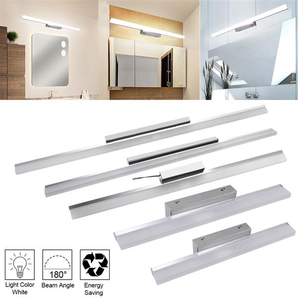 [US-W]9W 60CM ZC001216 Bathroom Light Bar Silver White Light