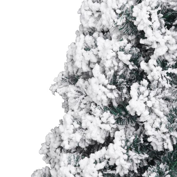 7ft Pvc Flocking Christmas Tree 1300 Branches Automatic Tree