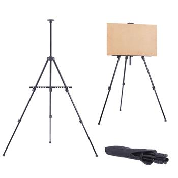New Artist Iron Folding Easel Light Weight And Carry Bag Black