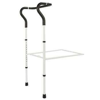 Height Adjustable Steel Home Bed Rail Black & White