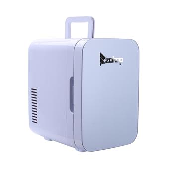 [US-W]ZOKOP Electric Mini Portable Fridge Cooler & Warmer (6 Liter / 0.21 Cuft / 8 Can) AC/DC Portable Thermoelectric System Gray