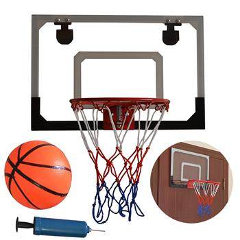 HY-013-B66 Kid Wall Mount Clear Basketball Backboard with Basketball & Pump Maximum Applicable Ball Diameter 5""