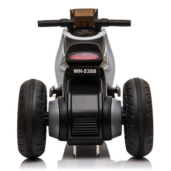 Children's Electric Motorcycle 3 Wheels Double Drive White