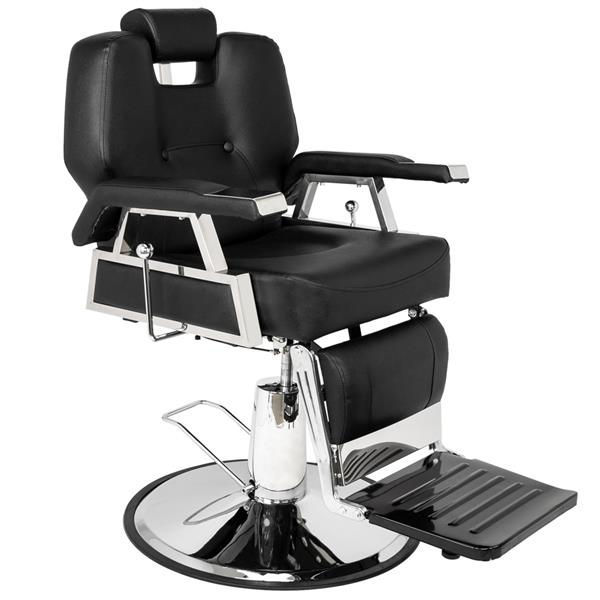 HZ8706 Professional Portable Hydraulic Lift Man Large Barber Chair Black