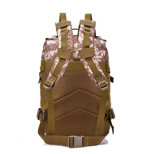 FK9252 40L 900D Military Outdoor Tactical Backpack with Hook-and-loop Fastener Desert Digital