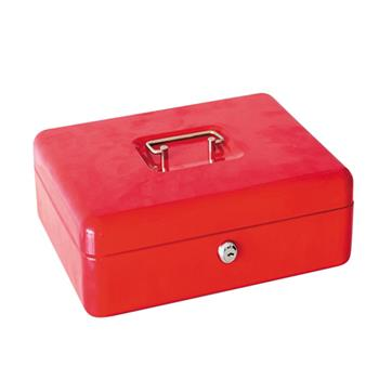 CB152 Stainless Steel Small Safe Box Red