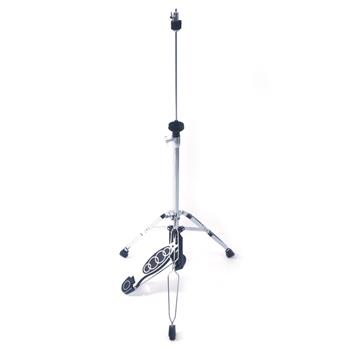 Glarry Professional Pedal Control Style Drum High Hat Cymbal Stand with Pedal Silver & Black