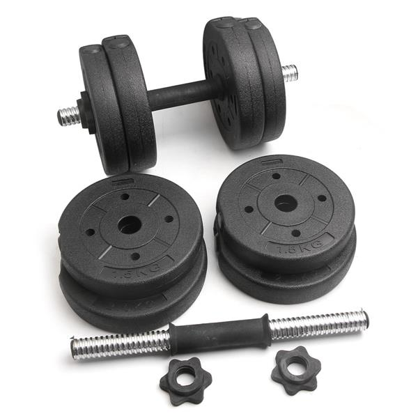 Body Building Apparatus Household Dismountable 15KG No Smell Eco-friendly Chromed Dumbbell Black