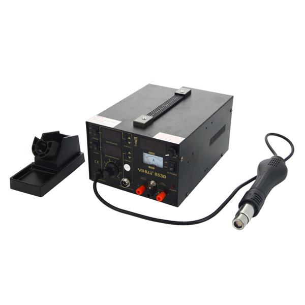 YiHUA-853D 3-in-1 Soldering Station   Hot Air Gun   Soldering Iron Kit with 11pcs Soldering Iron Hea