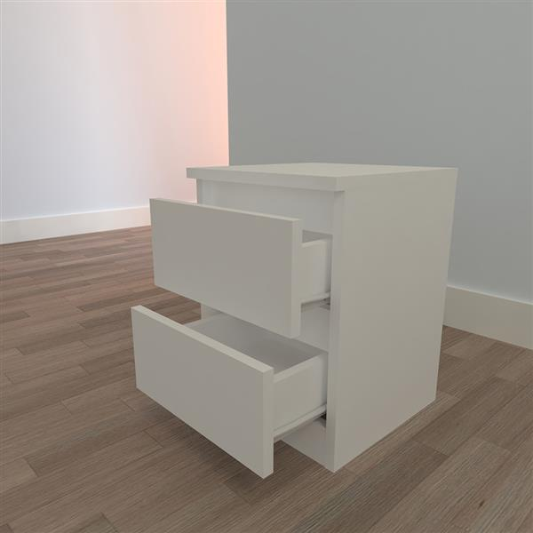 Good-Looking And Practical Double Pumping Bedside Table White